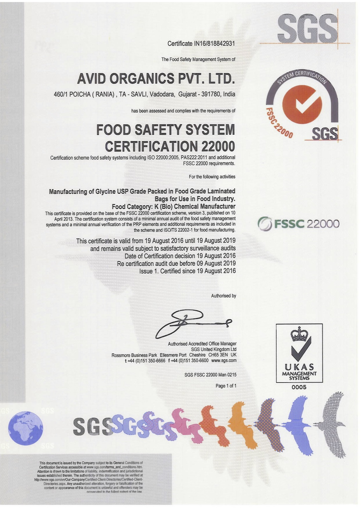 Welcome To Avid Organics Accreditations Certifications